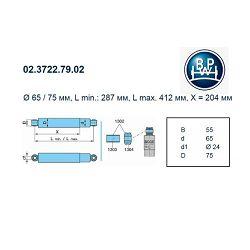 AMORTIZER BPW - KRONE FI24/24 f5384  287-412mm